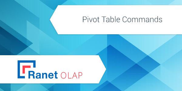Ranet OLAP Pivot Table Commands