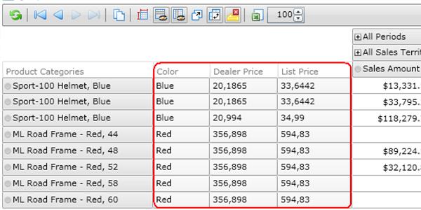 Ranet OLAP Pivot Table. Show Properties
