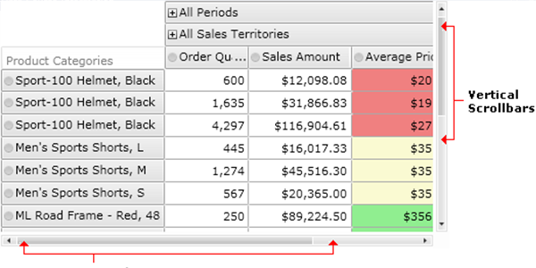 Ranet OLAP Pivot Grid Control. Sizing, Scrolling and Orientation