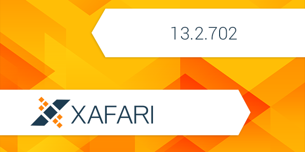 Changes and Improvements in Xafari 13.2.702