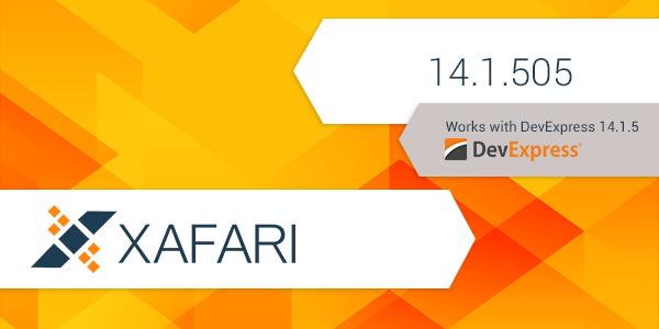 New Release: Xafari 14.1.505