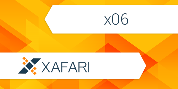 Roadmap for Xafari Version x06