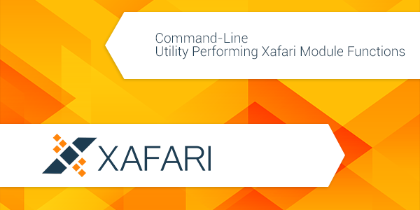 Command-Line Utility Performing Xafari Module Functions