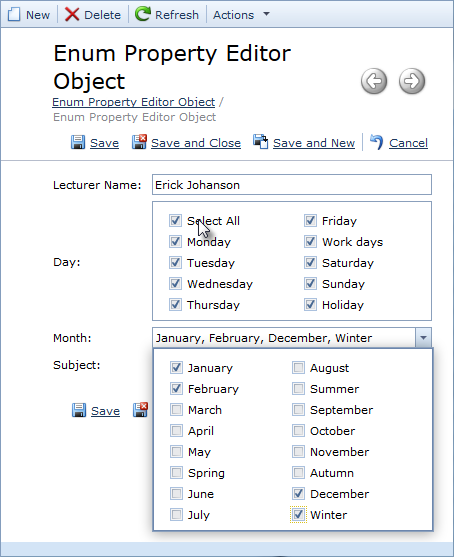 Enum Property Editor