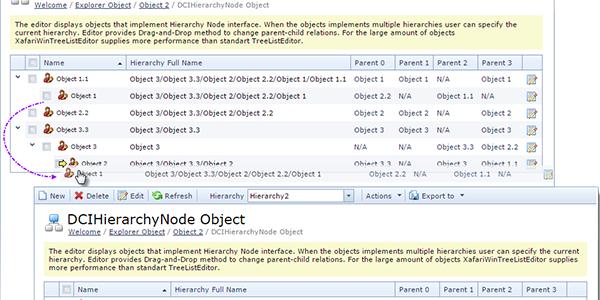 Hierarchy Node List Editor