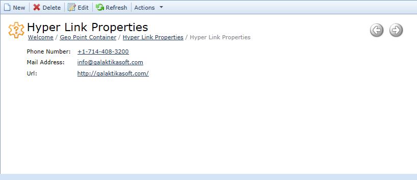 Hyper Link Property Editor
