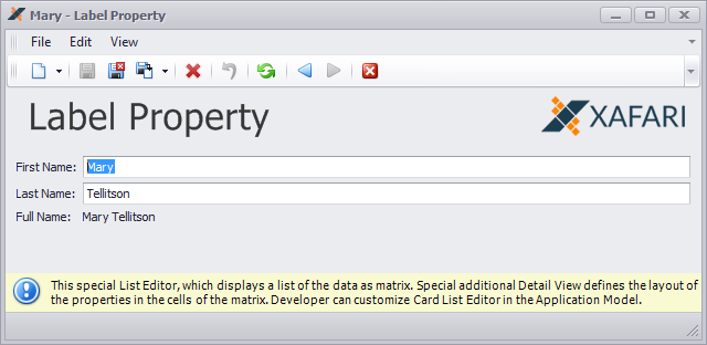 Label Property Editor