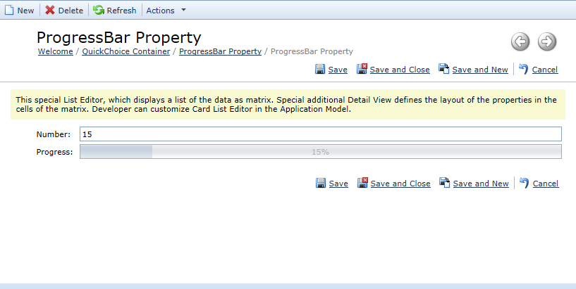 Progress Bar Property Editor