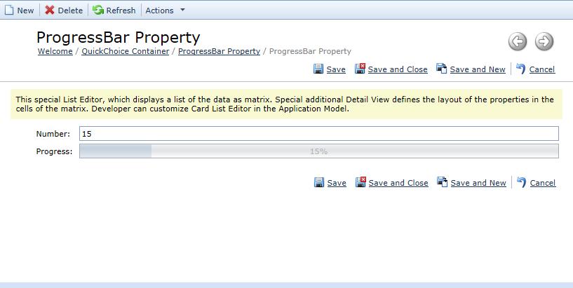 Progress Bar Property Editor