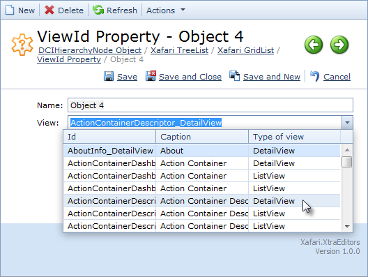 View Id Property Editor