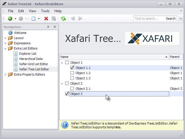 Xafari Tree List Editor