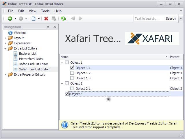 Xafari Tree List Editor