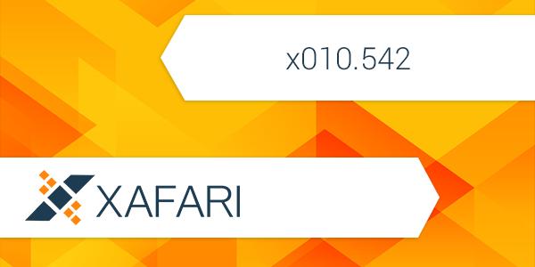 New build: Xafari x010.542