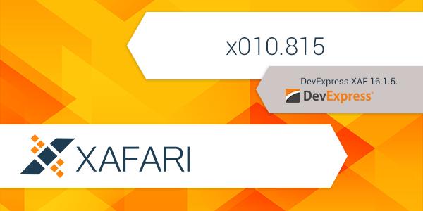 New build: Xafari x010.815