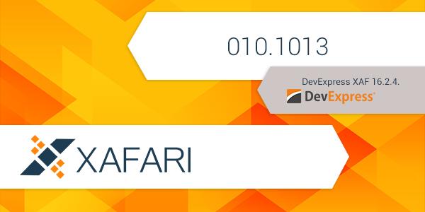 New build: Xafari 010.1013