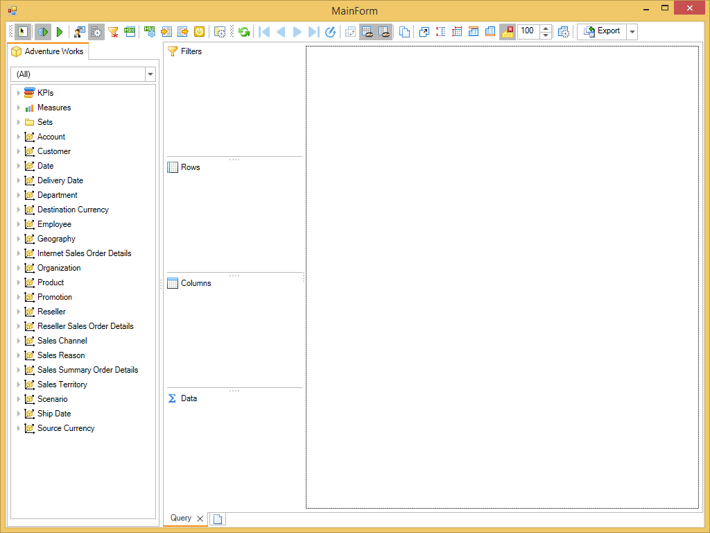 Figure 4. Application with Ranet UI.