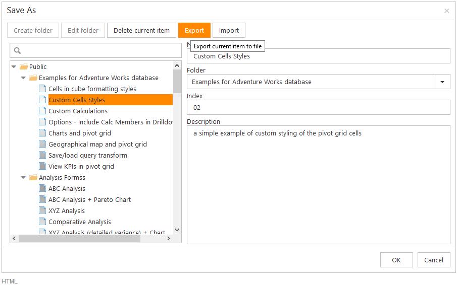 export report ranet html