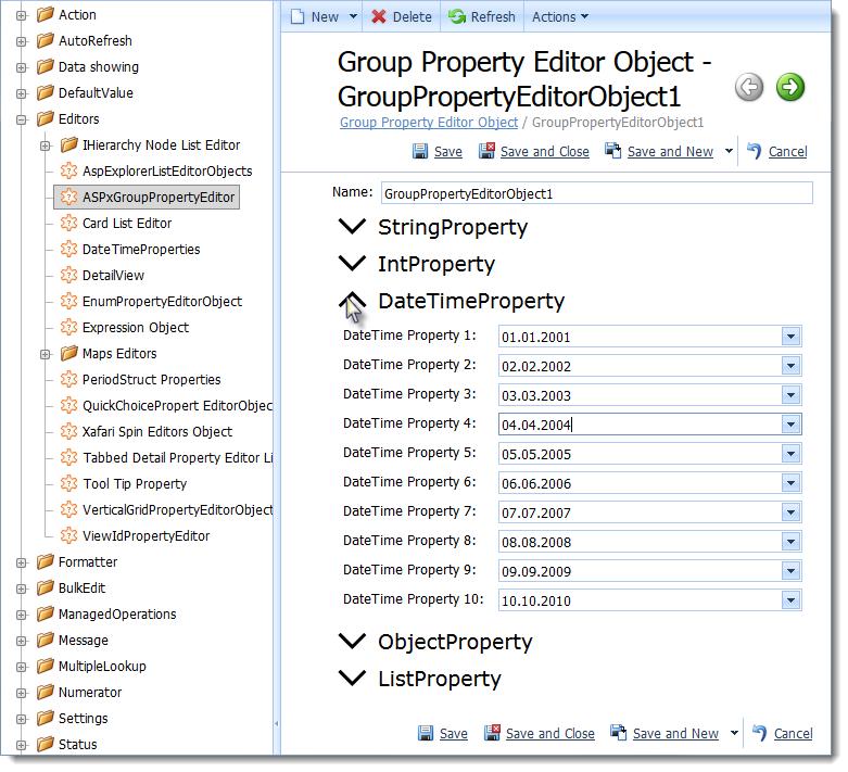 Xafari Group Property Editor
