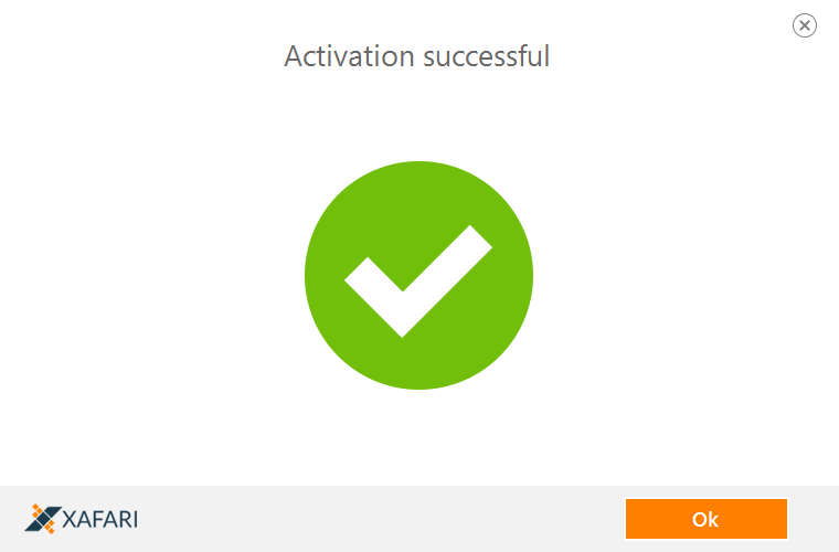 successful activation