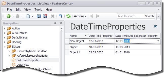 Xafari Date Property Editor