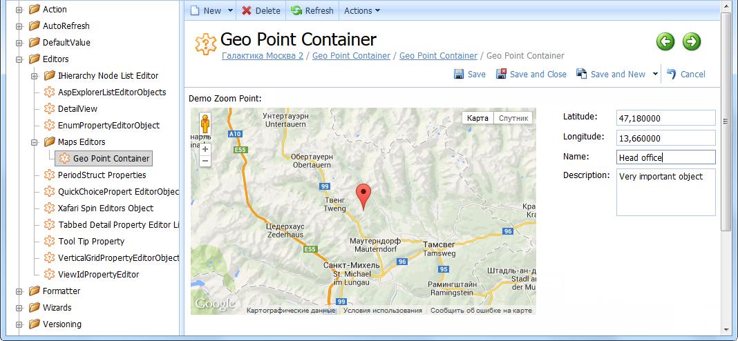 Xafari Google Maps Property Editor