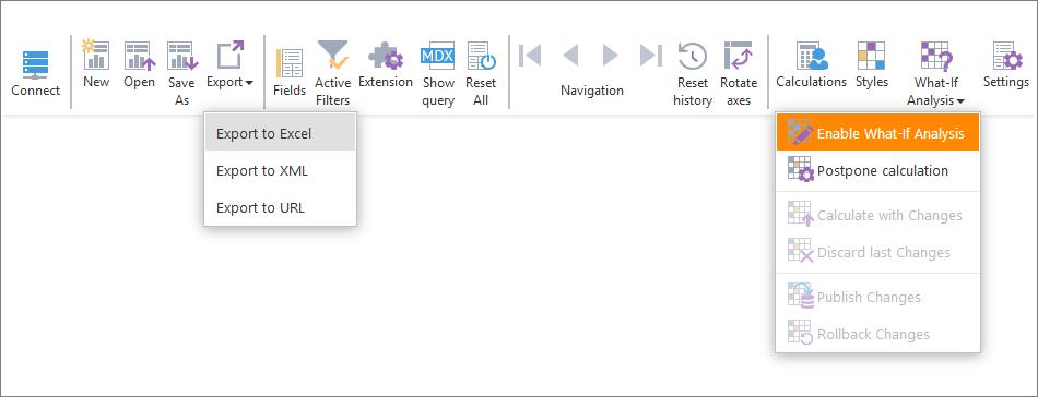ranet olap html toolbar