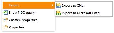 pivot table export