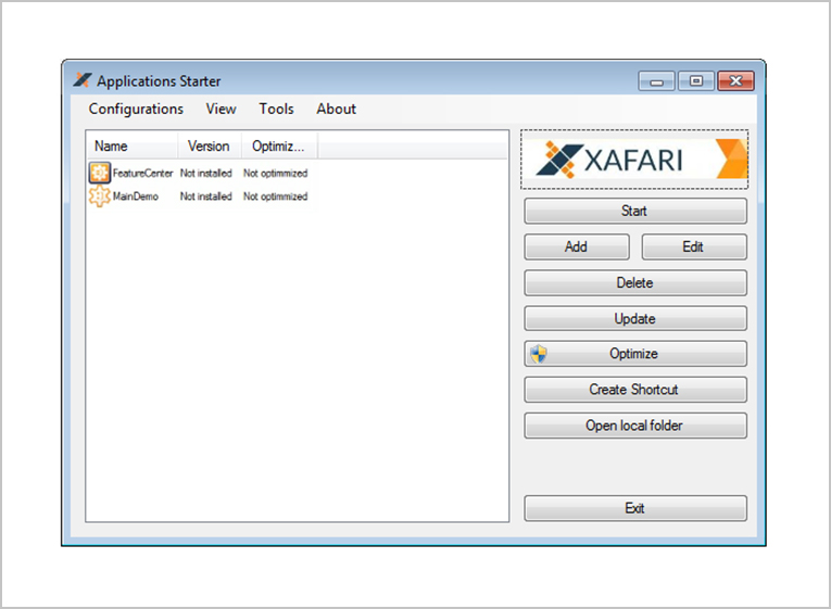 xafari framework appstarter