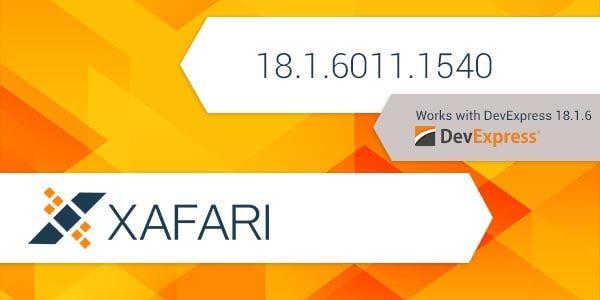 New Build: Xafari 18.1.6011.1540