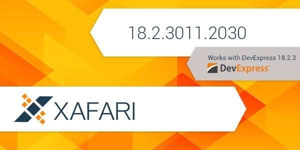 New Build: Xafari 18.2.3011.2030