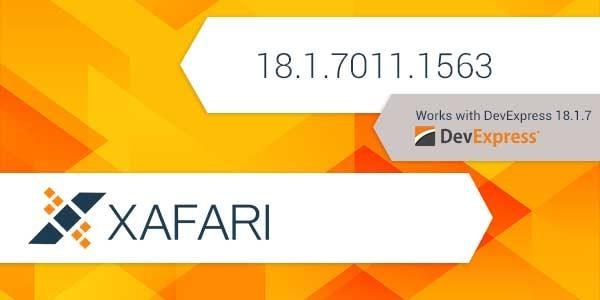 New Build: Xafari 18.1.7011.1563