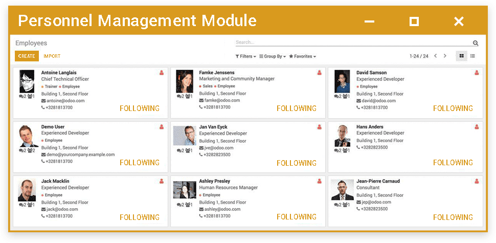 Personnel Management Module